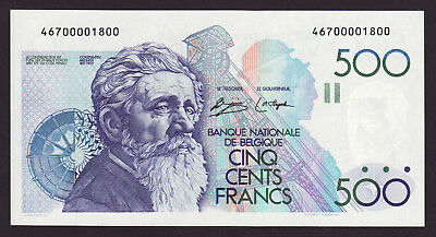 BELGIUM  -  500 francs,1980  -  P 141  -  without signature ( ! )  -  UNC