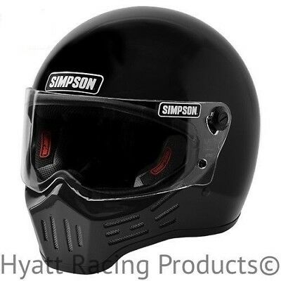 Simpson M30 Bandit Motorcycle Helmet DOT - All Sizes & Colors (Free Bag)