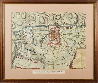 "Torino : "" Plan of Turin AS belagert in 1706,""Piemont"