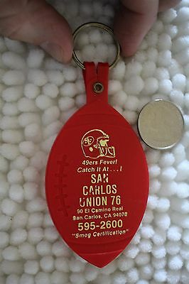 1988 San Francisco 49ers Schedule San Carlos Union 76 Gas Keychain Key Ring