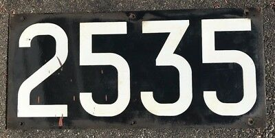 1914-1919 BMT NYC New York Subway AB Car Number Sign 2535