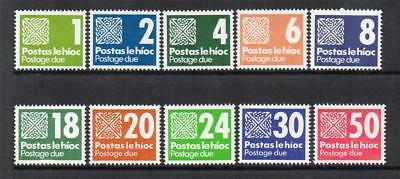 Ireland Mnh 1980 D25-D34 Postage Due Stamps