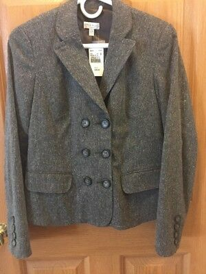 A Pea In The Pod Brown Maternity Blazer NWT Brown Size Small