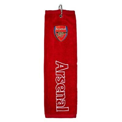 Arsenal FC Official Trifold Football Crest Golf Club Towel (SG1143)
