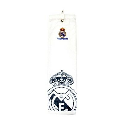 Real Madrid CF Official Trifold Football Crest Golf Club Towel (SG597)