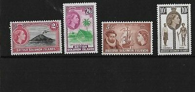 Br Solomon Is Sg92/5, 2/- To 10/- Mnh, Cat £75