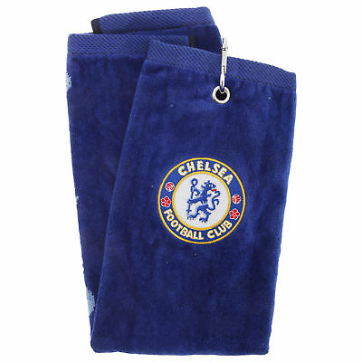 Chelsea FC Official Trifold Football Crest Golf Club Towel (SG522)