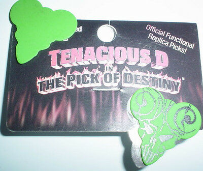 2 PICK of DESTINY Movie Jack Black of TENACIOUS D GUITAR PICK AWESOME Never Used