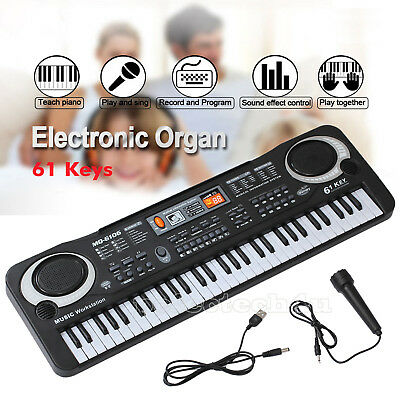 61 Keys Digital Music Electronic Keyboard Electric Piano Atudy Board Gift AU
