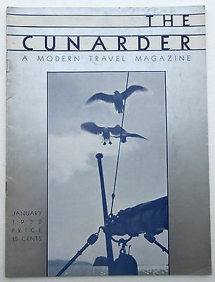 The Cunarder A Modern Travel Magazine January 1932 [Cunard Steam Ship Company]