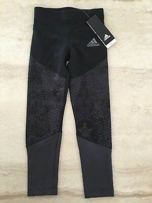 Adidas Tights Leggings Girls Size Small 6-7 Exercise Pants Gym Long Running Kids