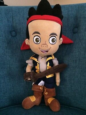"""Disney Store Jake And The Neverland Pirates Plush Toy Doll 12"""" Figure Peter Pan"""