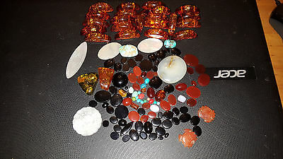 681 carats cabs onxy carnelian amber turquoise agate mother of pearl gaming chip