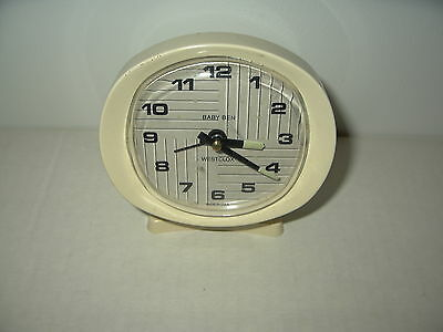 Vintage WESTCLOX Baby Ben Cream & White Colored Plastic & Metal Alarm Clock