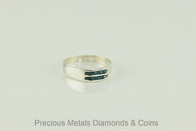 Cute Mexican Sterling Silver Mosaic Turquoise Inlay Ring Sz: 5