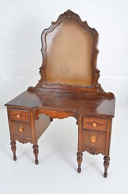 Antique Vanity Mirror Stand Desk