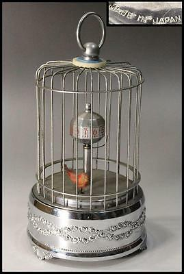 Japanese Bird cage shaped SPRING TYPE CLOCK Vintage // Made in Japan