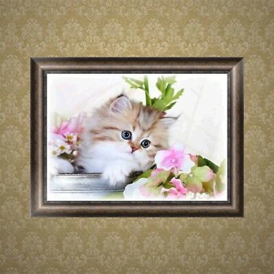 Lovely Cat 5D Diamond Embroidery Painting Cross Stitch DIY Craft Home Wall Decor