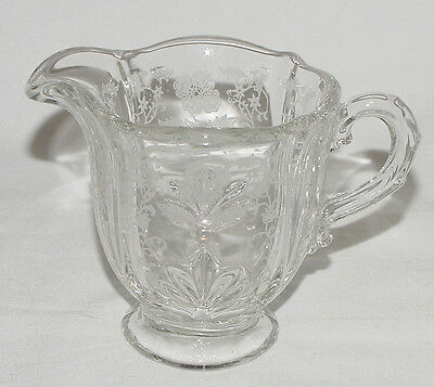 """PERFECT Vintage Fostoria """"SHIRLEY"""" Etched Creamer!!"""
