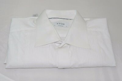 $285 NWOT Eton Men's Contemporary Fit French Cuff Tuxedo Shirt Size 17 1/2 - 37