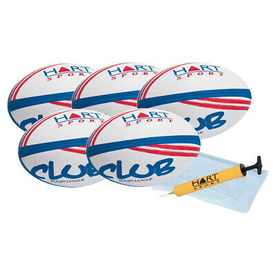 Hart Club Rugby League Pack - Three Ply Synthetic Cover Club Balls
