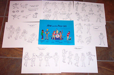 JOSIE AND THE PUSSYCATS ANIMATORS MODEL SHEETS HANNA BARBERA Artist Reference