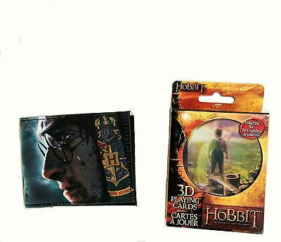 NEW Sci-Fi Nerd Block The Hobbit 3D Playing Cards & Harry Potter Bifold Wallet