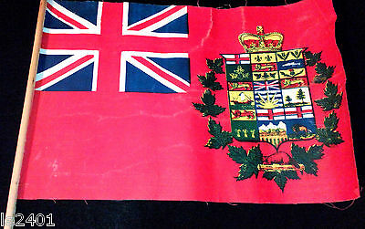 RARE 1907 - 1921 CANADA Red Ensign UNOFFICIAL FLAG / Crown on Union Jack SCARCE