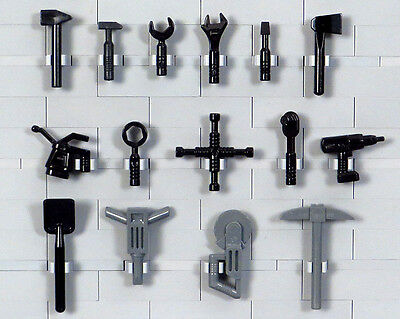 LEGO - 15 Minifigure Tools: Hammers, Wrenches, Screwdriver, Power Drill NEW