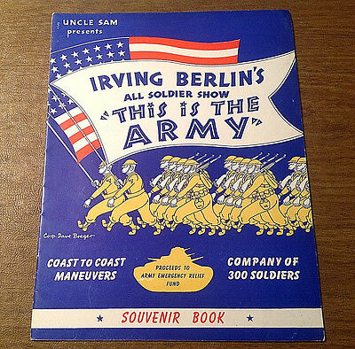 Vtg 1942 Irving Berlin's All Soldier Show This Is The Army Souvenir Program Book