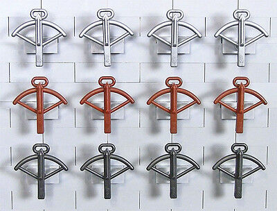 LEGO Minifigure Weapons - 12 Crossbows, 3 Different Colors (NEW)