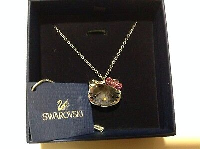 RRP $120! Authentic Swarovski Hello Kitty Crystal Pendant Necklace BOXED