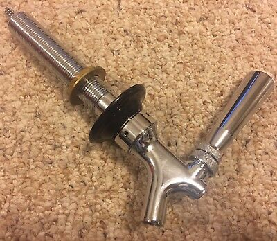 Krome Dispense C-201 Chrome Plated Brass Beer Faucet Tap Spout w Shank Assembly