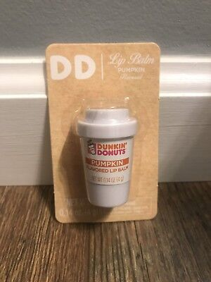NEW SEALED Dunkin Donuts PUMPKIN Flavored Lip Balm - Chapstick Coffee Cup Promo