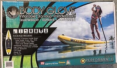 Body Glove Performer 11' Inflatable Stand Up Paddle Board Complete Package NEW!