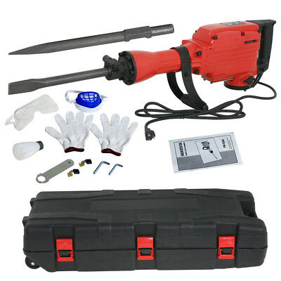1900 RPM Electric Demolition Jack Hammer Concrete Breaker Punch 2Chisel Bit 2200