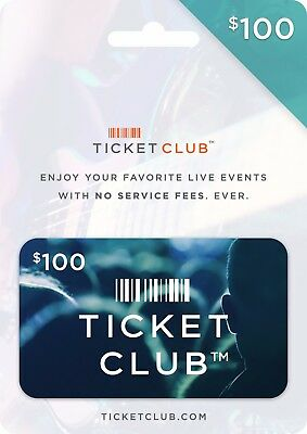 Ticket Club Gift Certificate - $100 (a $149.99 Value)