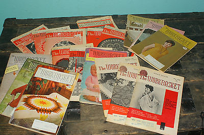 Lot of 19 Vintage 1960's Workbasket magazines Home Arts Magazines