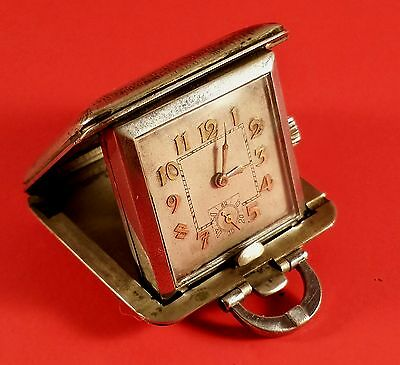 "Vintage "" Beroe "" Swiss Traveling Alarm Clock 15 Jewels (Case 37 mm X 37 mm)"