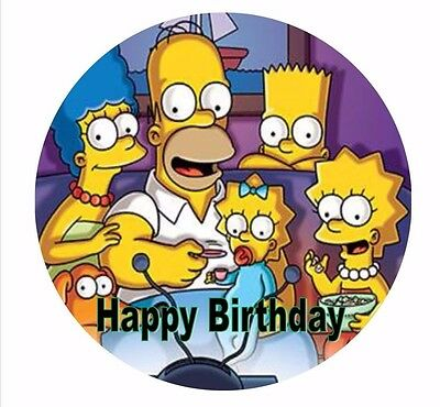 The Simpsons Edible Round Wafer Cake Topper