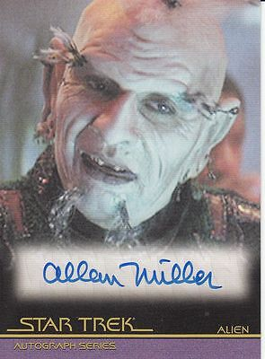Star Trek Movies Heroes & Villains A116 Allan Miller autograph