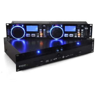 "19"" Rack Mount Dj Dual Cd Mp3 Player Scratch Controller Music Party Sd Usb"