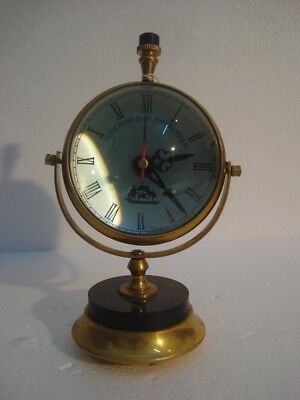 Vintage Style ship's Marine TABLE Clock - Brass - Little & Very Nice One (2812)