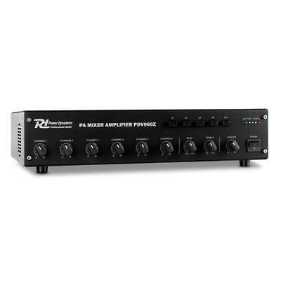 Power Dynamics 6-Channel Pa Amplifier 4-Zone 60W Loud Audio