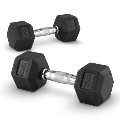 2X 7.5Kg Dumbbell Weights Set Home Gym Cross-Training Body Building Work Out