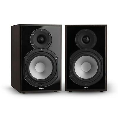 "6.5 "" Woofer Speaker Pair Home Cinema Compact Shelfstereo Sound System 80W Rms"