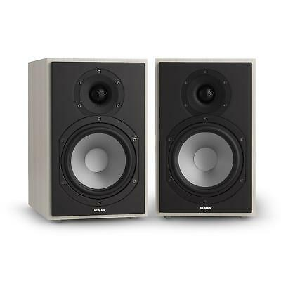 Numan Speaker Pair Bookshelf Tweeter Silk Dome 2 Way Stereo Home Cinema Loud