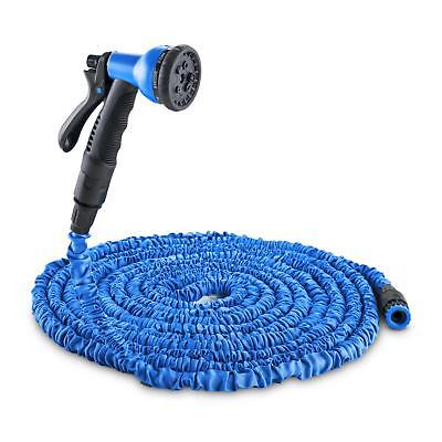 Expandable Green Water Pipe Hose 8 Function Nozzle Gun Watering Plant 22.5M Blue