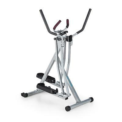 Folding Cross Stepper Swing Cardio Fitness Gym Home Training Computer Silver