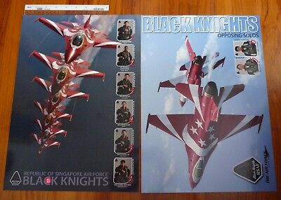 Singapore 2015 RSAF Black Knight SG50 Posters Glossary Print 2 Different Design